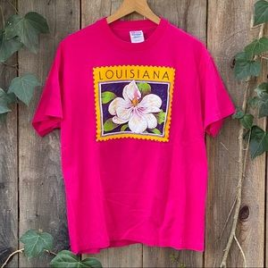 Louisiana 90s Vintage Men's Graphic Tee Shirt